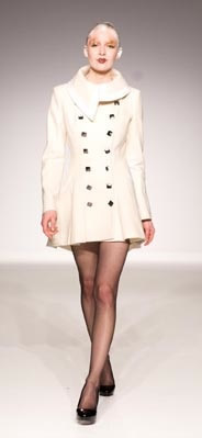 Eco1stArt: Corte Coat :  coat double breasted style white button front coat clothing