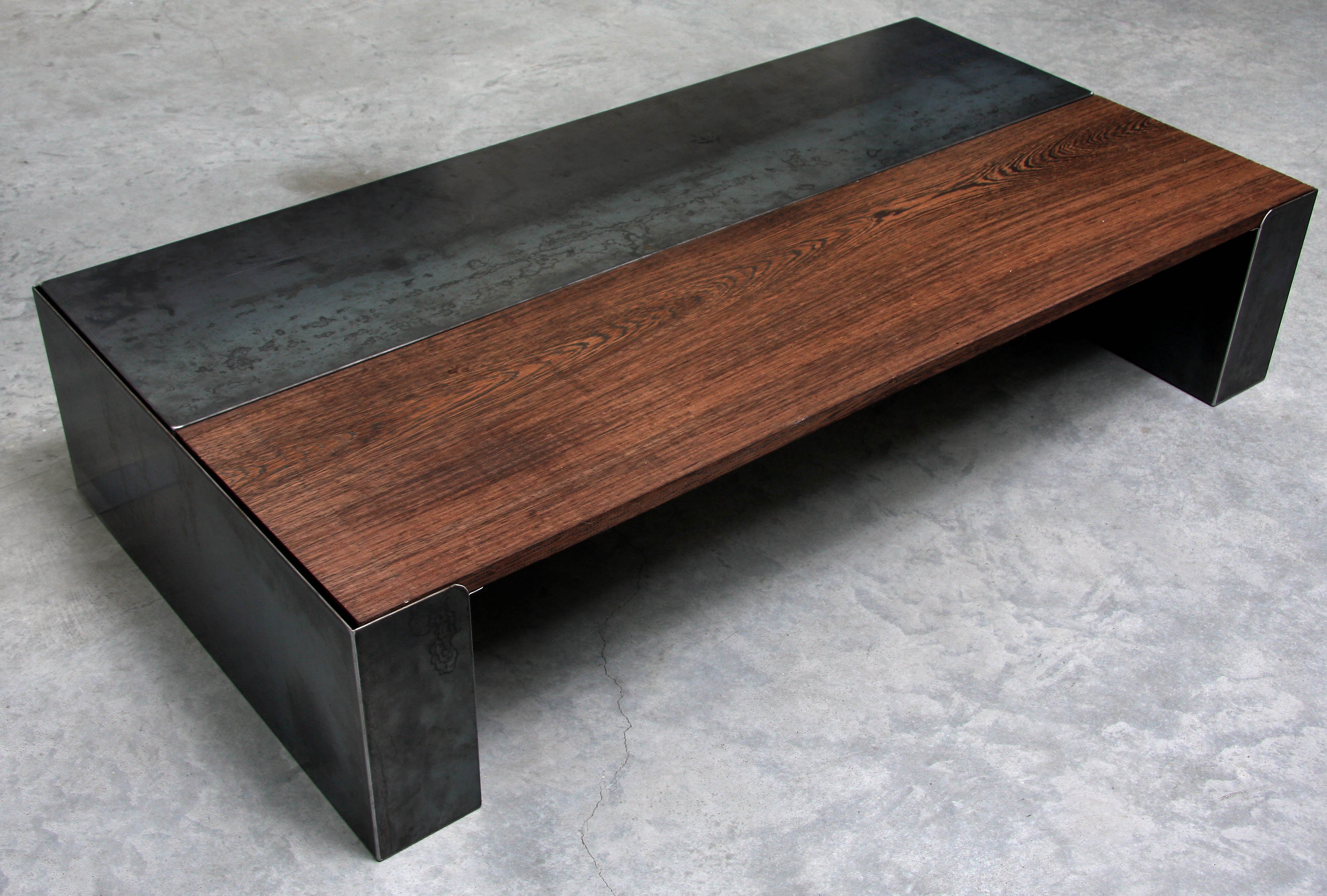 EcostArt Wenge And Steel Table - Stain steel table